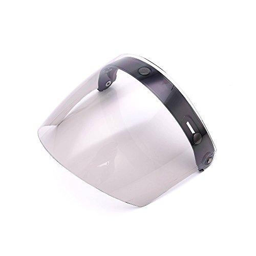 Universal 3 Snap Flip Up Visor Shield Lens for Retro Open Face Motorcycle Helmet by MotorFansClubSmoke