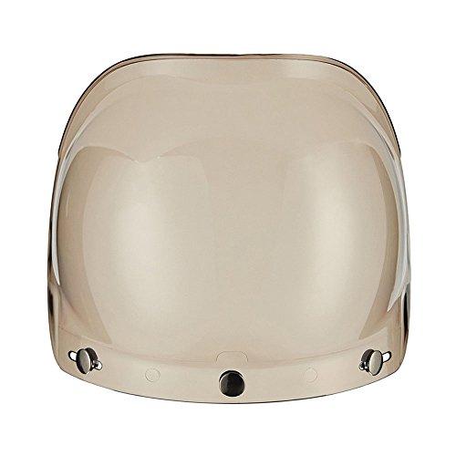 ZYHW Clear Bubble 3-Snap Motorcycle Helmet Visor Shield Lens with Flip Adapter Smoke
