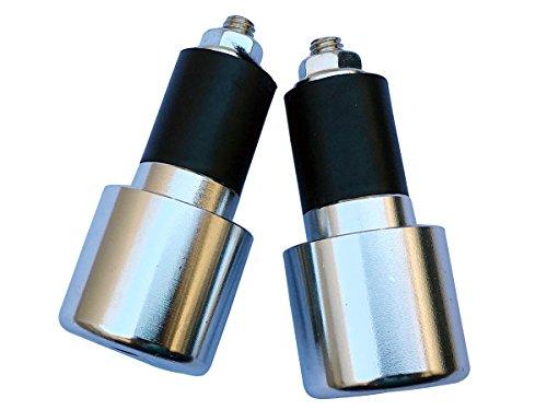 Chrome Silver 78 CNC Aluminum Handlebar End Weights Caps Plugs Sliders for 2005 Honda Transalp 650