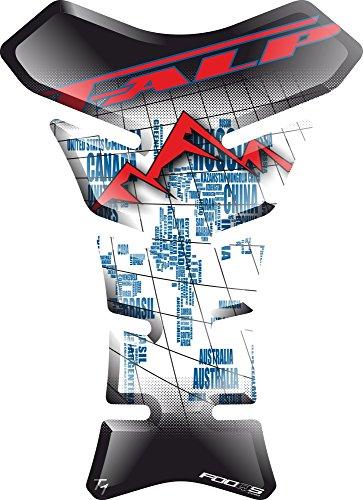 Motorcycle Gas Protector Sticker  3D Rubber Fuel Tank Pad Tankpad Protector Decal for Honda Transalp XL 650 v XL650 XL650v XL600v XL600 Whitered