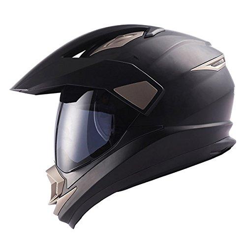 Dual Sport Motorcycle Motocross Off Road Full Face Helmet Matt Black