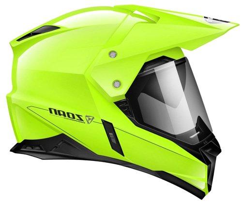 Zoan Synchrony Duo-Sport Hi-Viz Yellow Dual Sport Motorcycle Helmet Large