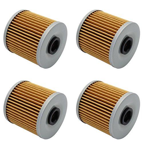 Cyleto Oil Filter For KAWASAKI KLF300 BAYOU 300 2X4 1986-2004  KLF300 BAYOU 4X4 1989-2004  Pack of 4