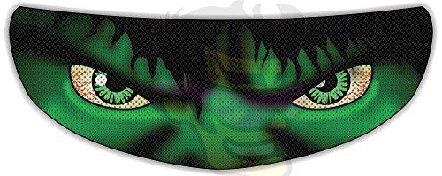 Hulk Helmet Visor Sticker Superhero Motorcycle Shield Decal Tint Eyes