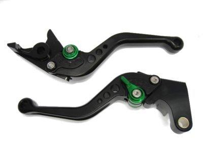POWTEC PTBG-136 Adjustable short Brake and Clutch Levers for KAWASAKI Z1000SXNINJA 1000Tourer-BLKGRE