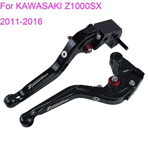 PRO-KODASKIN Folding Extendable Brake Clutch Levers for KAWASAKI Z1000SX 2011-2016 Black