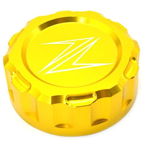 Decal Story Rear Brake Fluid Gold Reservoir Cap For Kawasaki Ninja ZX-10R 2008-2014 ZX6R 2009-2014 Z1000 2010-2013