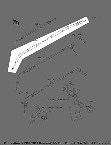 Kawasaki 2010-2013 10-13 Z 1000 Z1000 Clutch Cable Assembly 54011-0108 New OEM