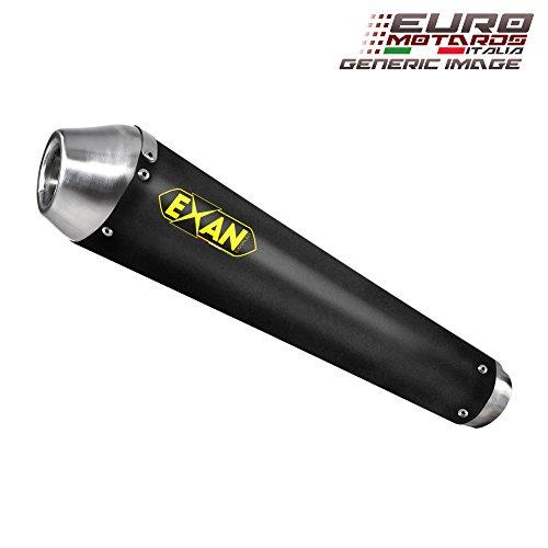 Kawasaki Z1000 2007-2009 Exan Exhaust Silencer Conic-NX Black Stainless Steel Dual X2 New