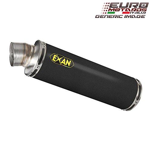 Kawasaki Z1000 2007-2009 Exan Exhaust Silencer X-GP Black Stainless Steel Dual x2 New