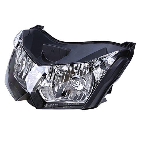 POSSBAY Headlight Housing Headlamp Assembly for Kawasaki Z1000 2007-2009
