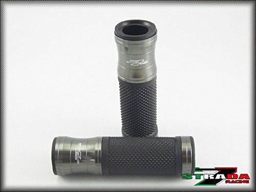 Strada 7 Racing CNC Aluminum Hand Grips Grey For Yamaha FZ6 Fazer