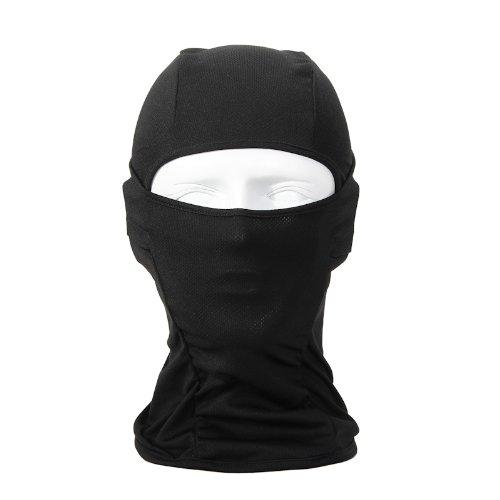 High Quality Bandana Lightweight Face Mask Balaclava Outdoor Sport Cycling Neck Gaiter (black)