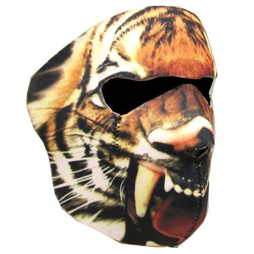 New Half Face Motorcycle Snowmobile Snowboard Ski Balaclava Face Mask Tiger Black