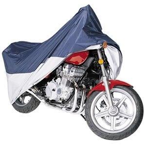 Vehicore Motorcycle Cover for Aprilia Dorsoduro 1200 NavySilver w Lock Cable