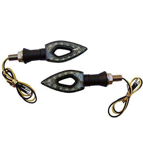 2 x Black LED Turn Signal Indicators Blinker Amer Diamond Lights For 2003 Buell Firebolt XB9R