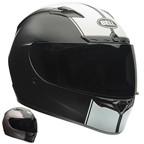 Bell Qualifier DLX Rally Matte BlackWhite Full Face Helmet - Medium