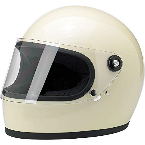Biltwell Inc Gringo S Gloss Vintage White Full Face Helmet S