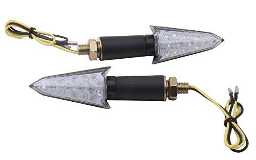 2 PCS Arrow Long Stalk Turn Signals LED Lights Blinkers for 2003 Buell Firebolt XB9R