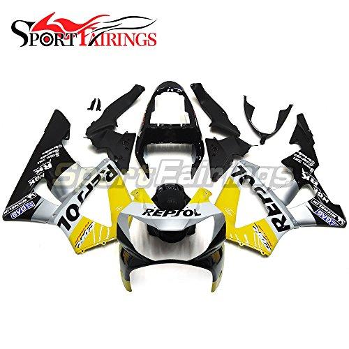 Sportfairings Complete Fairing Kit For Honda CBR 900 RR CBR900RR 929 2000 2001 Bodywork Yellow Silver Black Panel