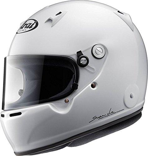 Arai Mens Full-Face-Helmet-Style GP-5W M6 SAH-2015 Helmet White Large