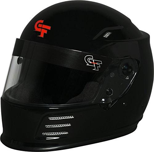 G-Force Mens Full-Face-Helmet-Style Revo Helmet Flat Black Large