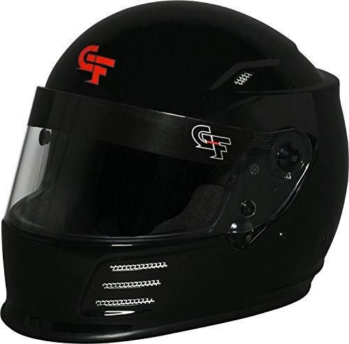 G-Force Mens Full-Face-Helmet-Style Revo Helmet Flat Black Small