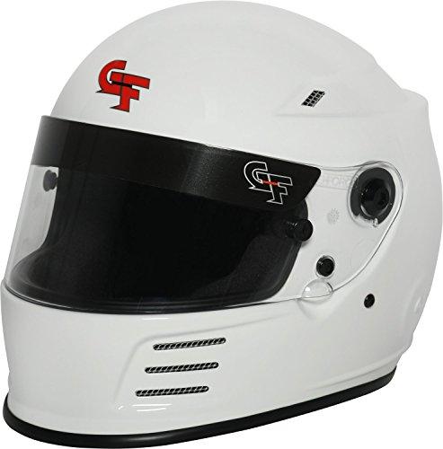 G-Force Mens Full-Face-Helmet-Style Revo Helmet White Medium