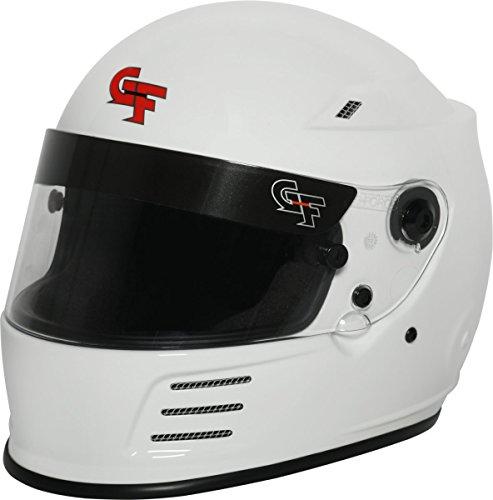 G-Force Mens Full-Face-Helmet-Style Revo Helmet White X-Small