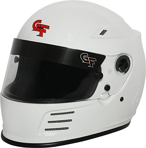 G-Force Mens Full-Face-Helmet-Style Revo Helmet White XX-Large
