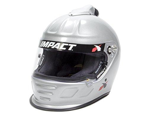 Impact Air Draft Mens Full Face Helmet Silver Large