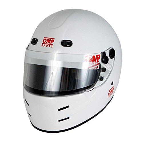 OMP Racing Mens Full-Face-Helmet-Style OS 70 Snell Helmet White Large