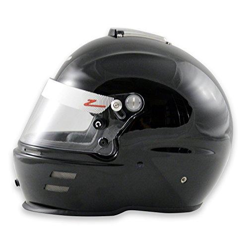 Zamp Mens Full-Face-Helmet-Style RZ-40 Helmet Kevlar Mix Black Medium