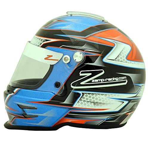 Zamp Mens Full-Face-Helmet-Style RZ-42Y Youth Helmet 56cm Blue X-Small
