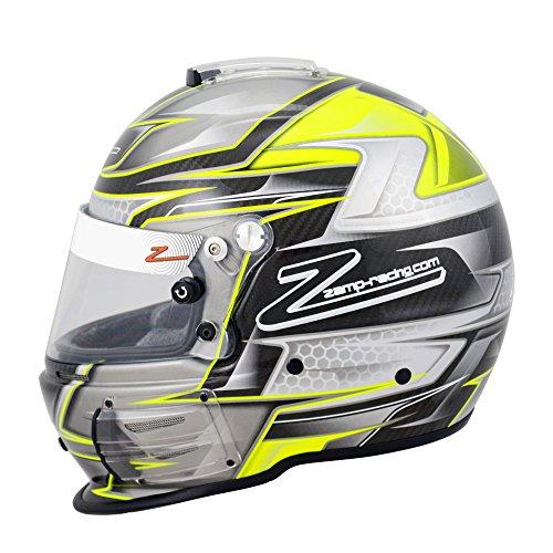 Zamp Mens Full-Face-Helmet-Style RZ-44C Helmet Carbon Graphic Black Large