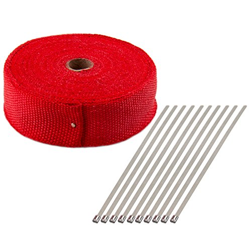 CarBole Titanium Exhaust Heat Wrap with LR Technology 2 x 50 Roll
