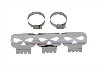 V-Twin 30-3385 Exhaust Heat Shield - Skull Style