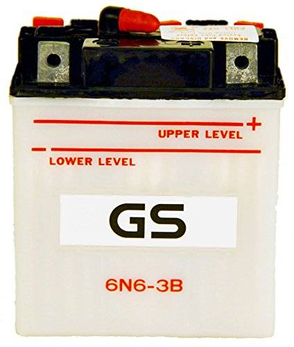 6N6-3B with Acid Pack by GS BATTERY a subsidiary of GS YUASA The Worlds Leading Manufacturer of Powersports Batteries