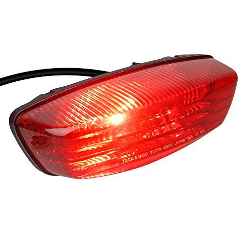 NTHREEAUTO 12V RED ATV Tail Light Motorcycle Taillights Brake Lights Compatible with 35710-03G30 2005-2014 Suzuki LT-F250 2004-2010 LT-Z250 2005-2008 LT-Z400