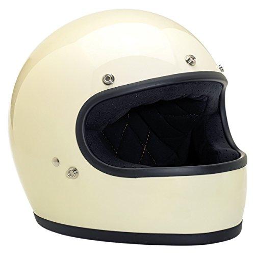 Biltwell Gringo Full Face Motorcycle Helmets Gloss Vintage White - Large