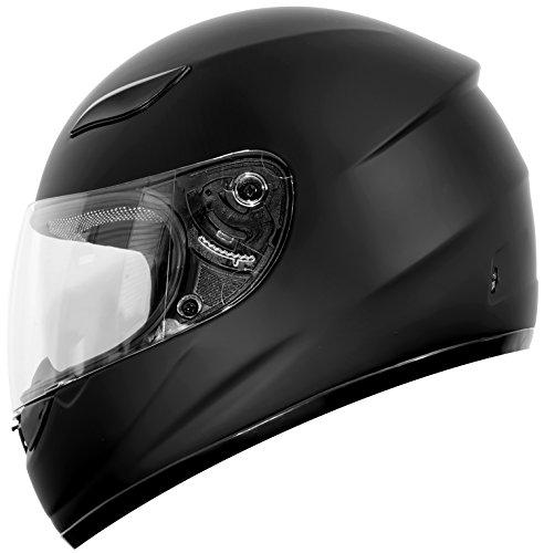 Duke Helmets DK-110 Full Face Motorcycle Helmet Large Matte Black