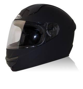 Zox Thunder R2 Full Face Motorcycle Helmet Matte Black X-Large