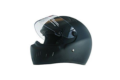 CRG Sports ATV Motocross Motorcycle Scooter Full-Face Fiberglass Helmet DOT Certified ATV-2 - Parent Small Matte Black