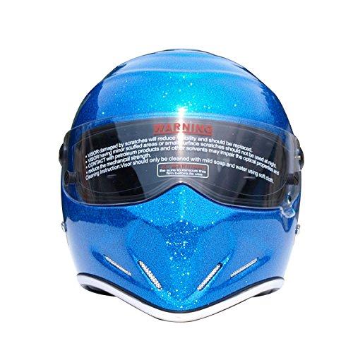 CRG Sports ATV Motocross Motorcycle Scooter Full-Face Fiberglass Helmet DOT Certified ATV-4 - Parent Large Blue