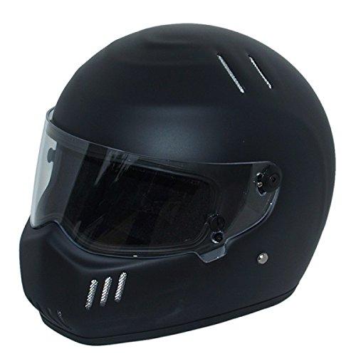 CRG Sports ATV Motocross Motorcycle Scooter Full-Face Fiberglass Helmet DOT Certified ATV-6 Matte Black Size Large