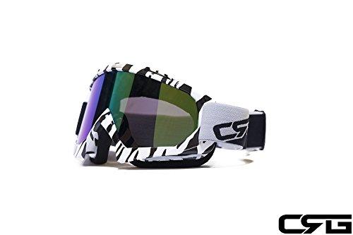 CRG Sports Motocross ATV Dirt Bike Off Road Racing Goggles ZEBRA PRINT T815-7-8A T815-7-8A Multi-color lens zebra printed frame