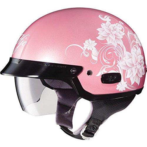 HJC Blossom IS-2 Half 12 Shell Motorcycle Helmet - MC-8  Small