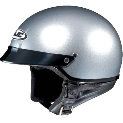 HJC Metallic CS-2N Half 12 Shell Motorcycle Helmet - Light Silver  Medium
