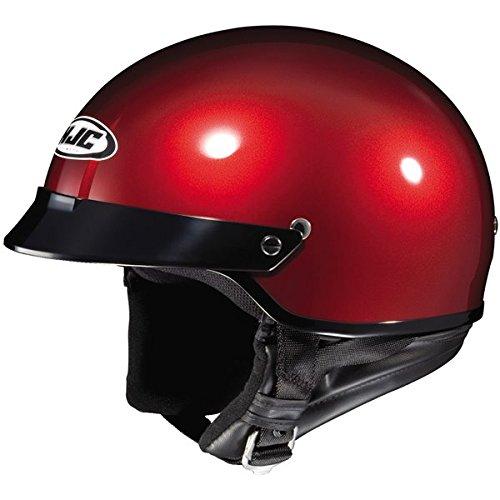 HJC Metallic CS-2N Half 12 Shell Motorcycle Helmet - Wine  Large