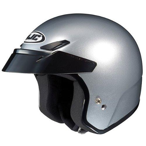 HJC Metallic CS-5N Half 12 Shell Motorcycle Helmet - CR Silver  Large